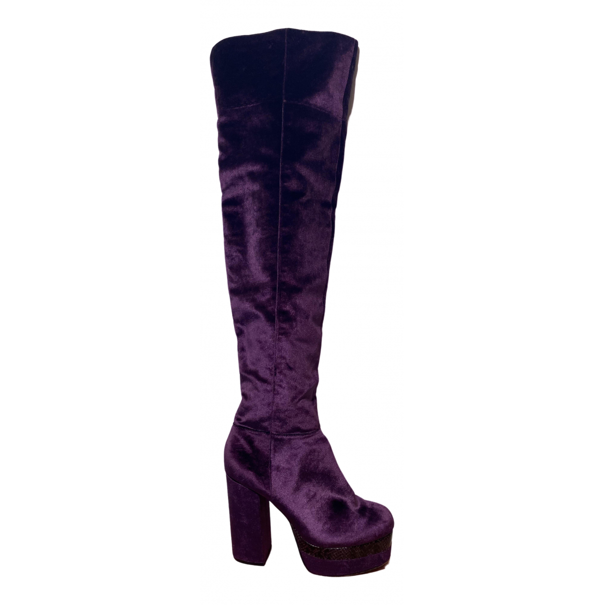 Asos - Bottes   pour femme en velours - violet