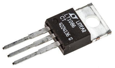 Analog Devices LT1086CT#PBF, LDO Regulator, 1.5A Adjustable 3-Pin, TO-220