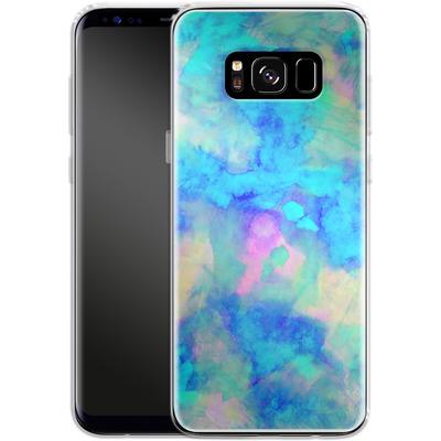 Samsung Galaxy S8 Silikon Handyhuelle - Electrify Ice Blue von Amy Sia