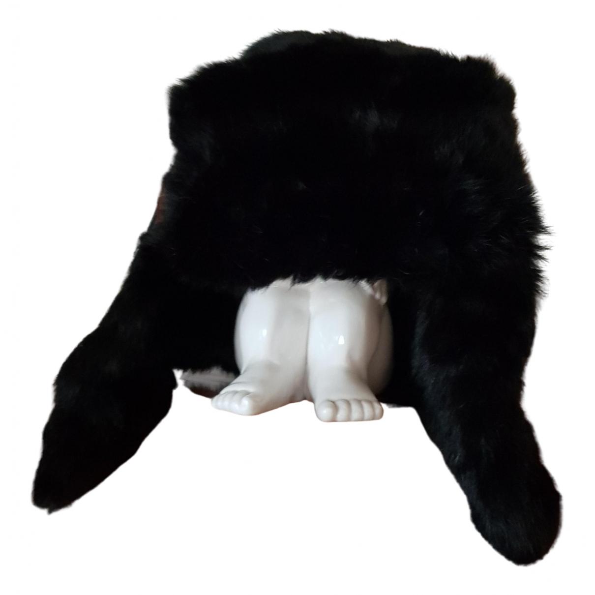 - Chapeau   pour femme en lapin - noir