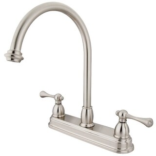 Traditional 8-Inch Centerset Kitchen Faucet (Brushed Nickel)