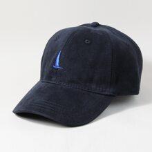 Men Sailboat Embroidered Baseball Cap