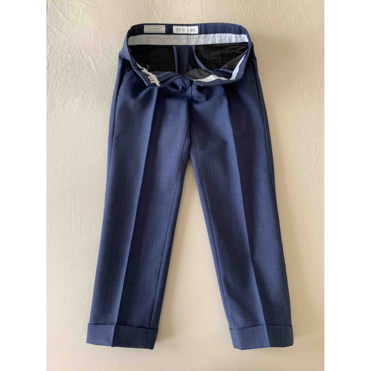 Zara \N Blue Wool Trousers for Kids 8 years - up to 128cm FR