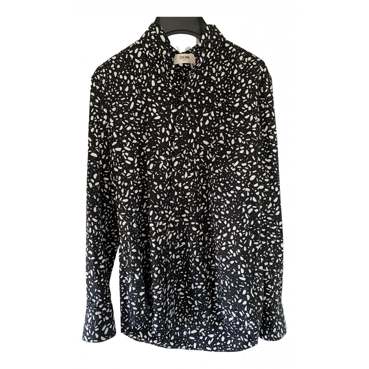 Celine - Chemises   pour homme en coton - noir