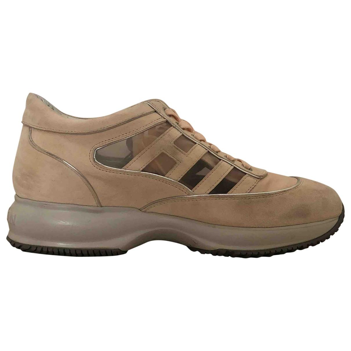 Hogan \N Sneakers in  Rosa Veloursleder
