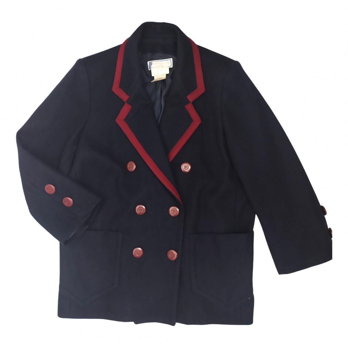 Yves Saint Laurent \N Navy Wool coat for Women L International