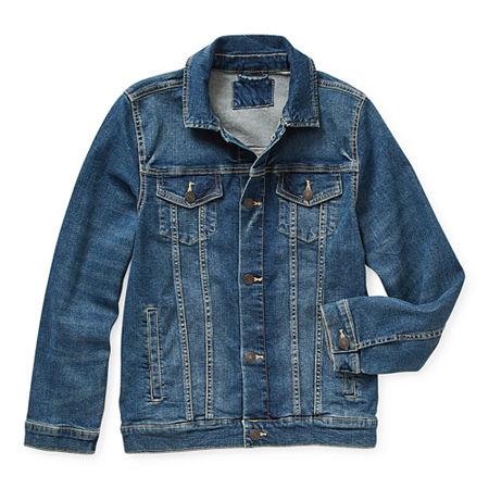 Arizona Little & Big Boys Denim Jacket, Large (14-16) , Blue