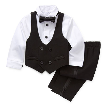 Van Heusen Baby Boys 4-pc. Suit Set, 6-9 Months , Black