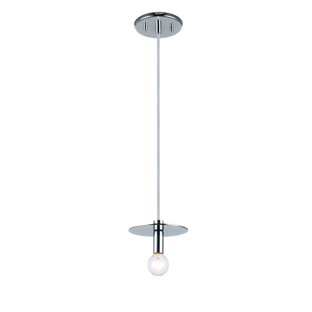 Matteo  C54901CH One Light Pendant Kasa Chrome - One Size (One Size - Clear)