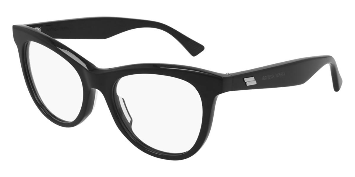 Bottega Veneta BV1064O 001 Women's Glasses Black Size 52 - Free Lenses - HSA/FSA Insurance - Blue Light Block Available