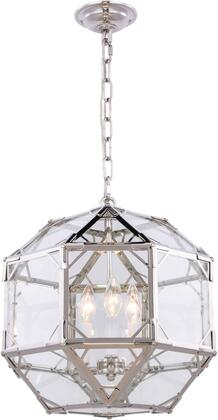 1514D14PN 1514 Gordon Collection Pendant Ceiling Light L:14In W:14In H:15In Lt:3 Polished Nickel