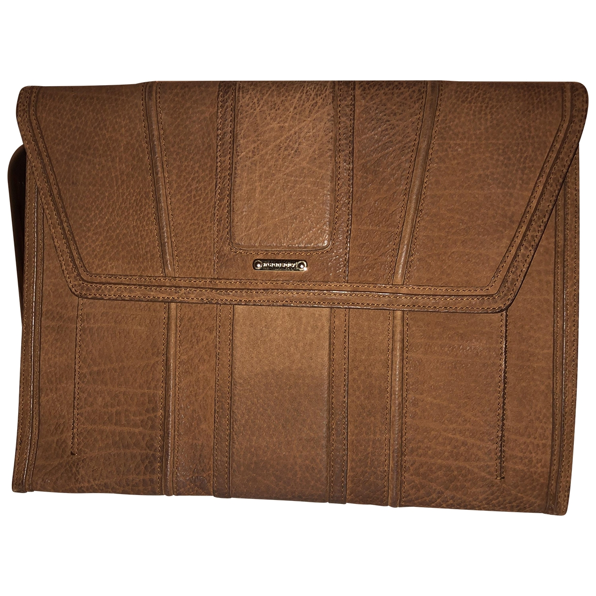 Burberry \N Clutch in  Braun Veloursleder