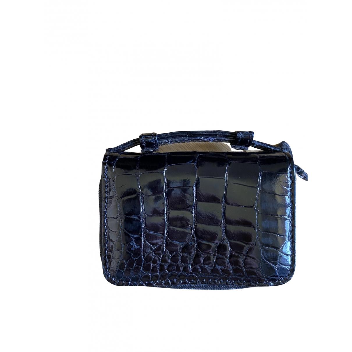 Non Signe / Unsigned \N Portemonnaie in  Schwarz Krokodil