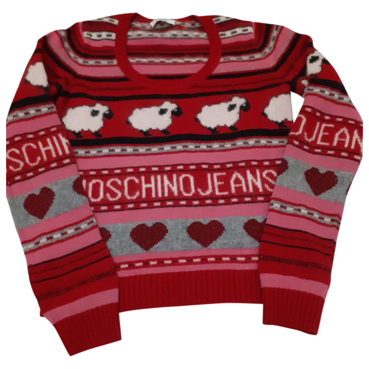 Moschino - Pull   pour femme en laine - multicolore