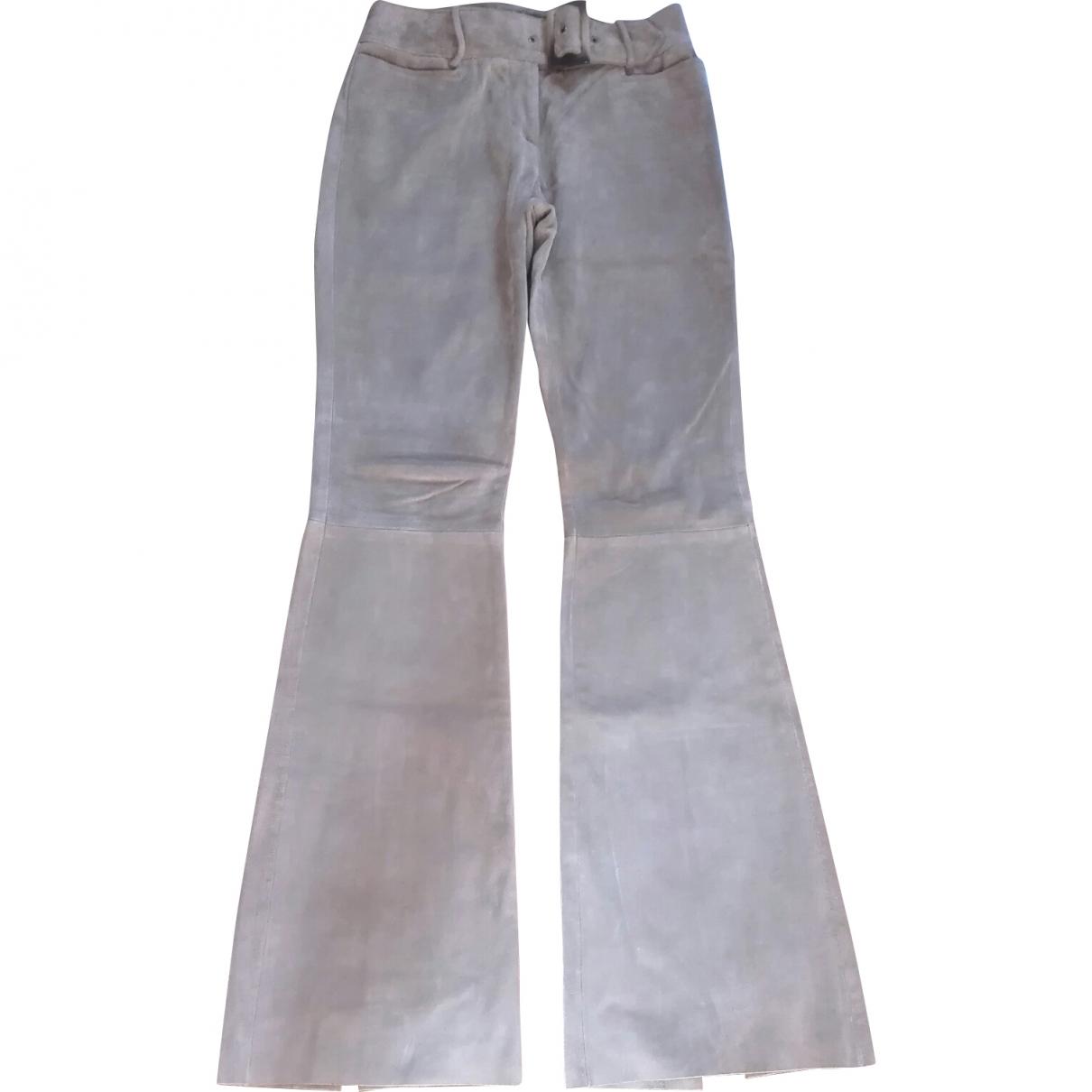 D&g \N Beige Suede Trousers for Women 38 IT