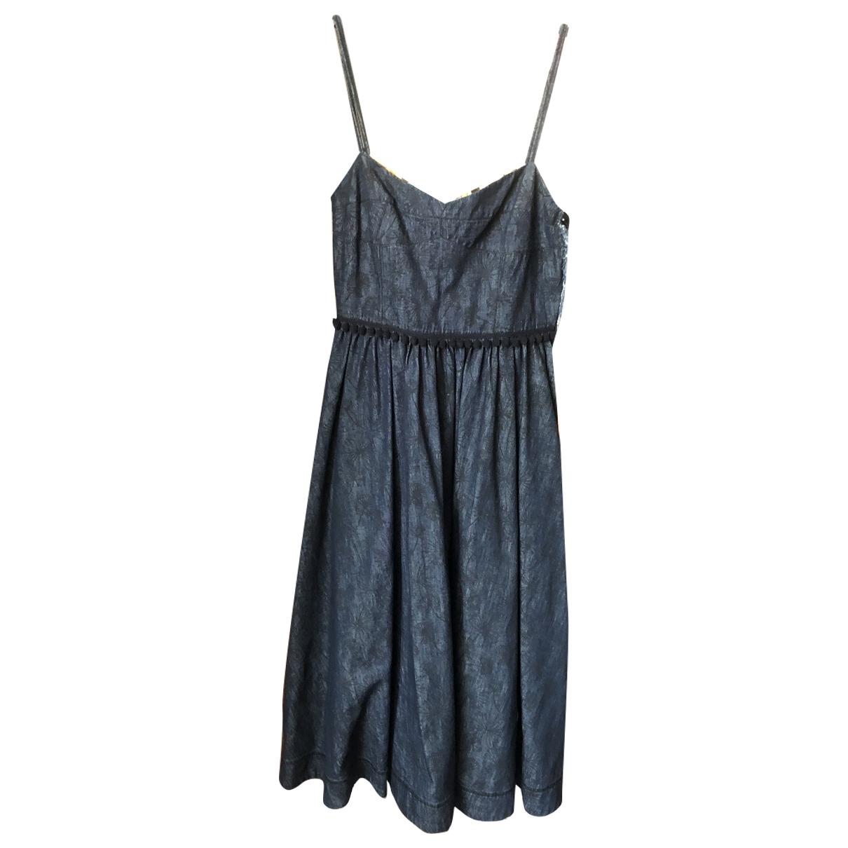Tomas Maier - Robe   pour femme en coton - bleu