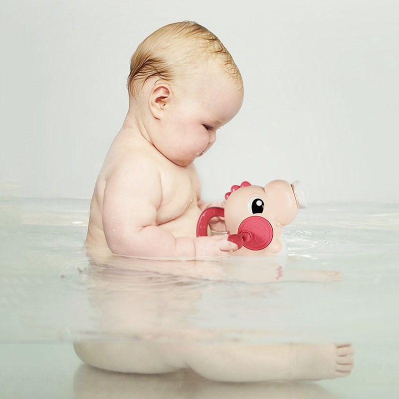 Cartoon Dinosaur Water Sprayer Toy By Hand ABS Healthy Baby/Kids Bath Toys