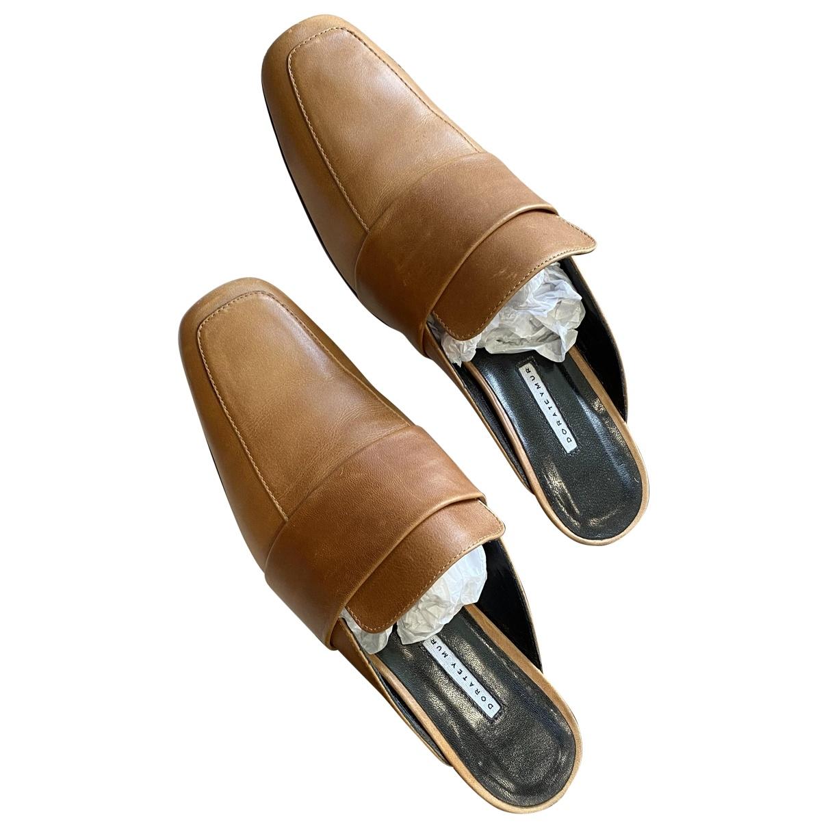 Dorateymur - Sandales   pour femme en cuir - camel