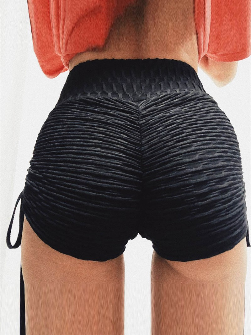 Ericdress Solid Breathable Lace-Up Cotton Summer Sports Shorts