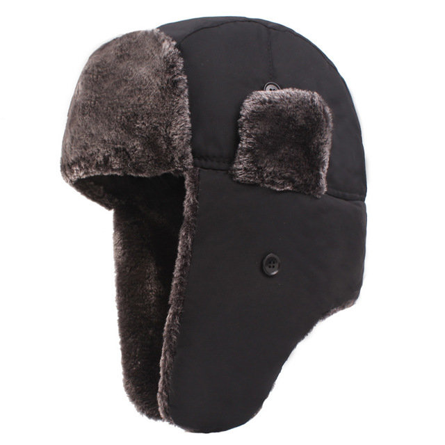 Snow Cap Men's Trapper HatThickening Plus Earmuffs Cycling Windproof Cap