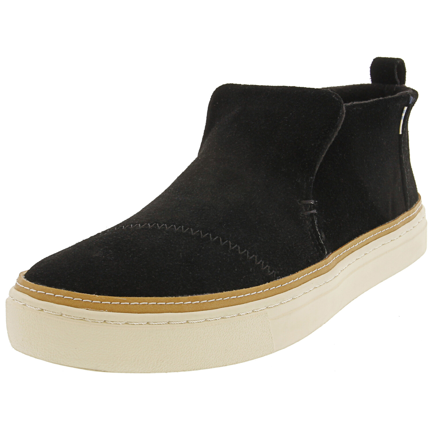 Toms Women's Paxton Suede Black Ankle-High Slip-On Shoes - 6M