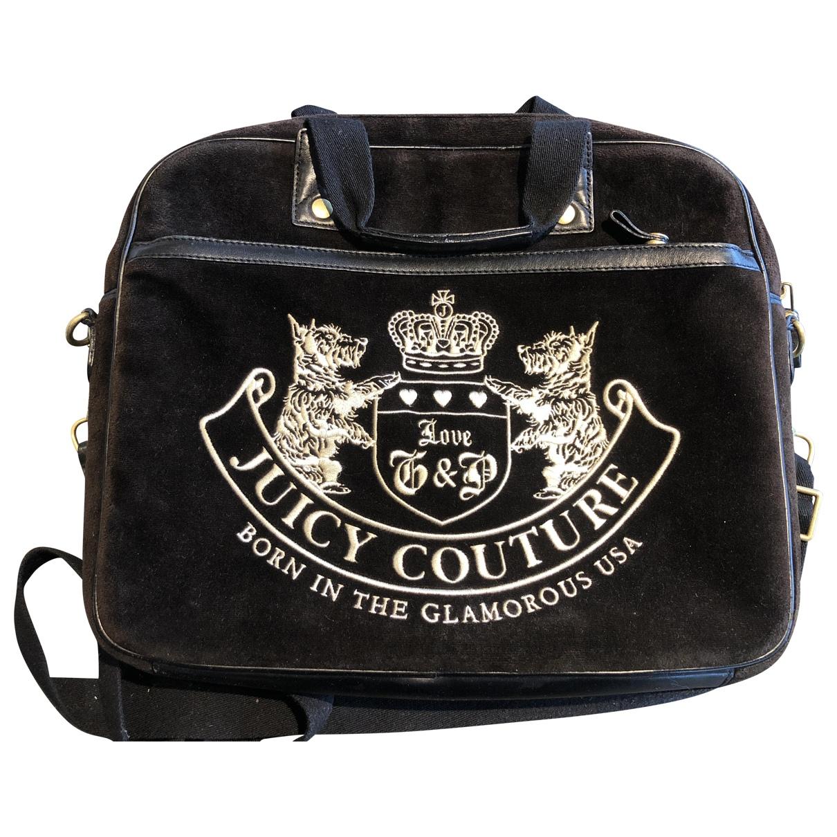 Juicy Couture - Sac de voyage   pour femme en velours - noir
