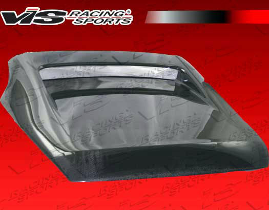 VIS Racing 03NS3502DTUN-020C Tunnel Style Carbon Fiber Hatch Nissan 350Z 03-08