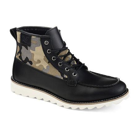 Territory Mens Boone Chukka Boots Block Heel, 12 Medium, Black