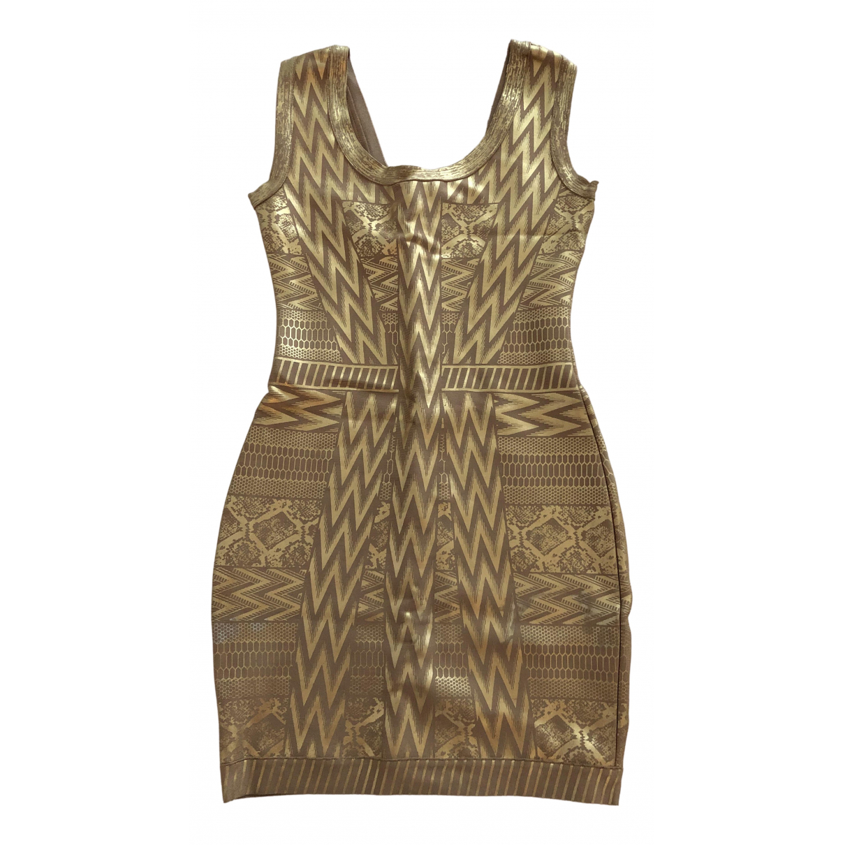 Non Signé / Unsigned N Gold dress for Women 42 IT