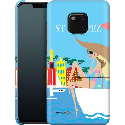 Huawei Mate 20 Pro Smartphone Huelle - ST TROPEZ TRAVEL POSTER von IRMA