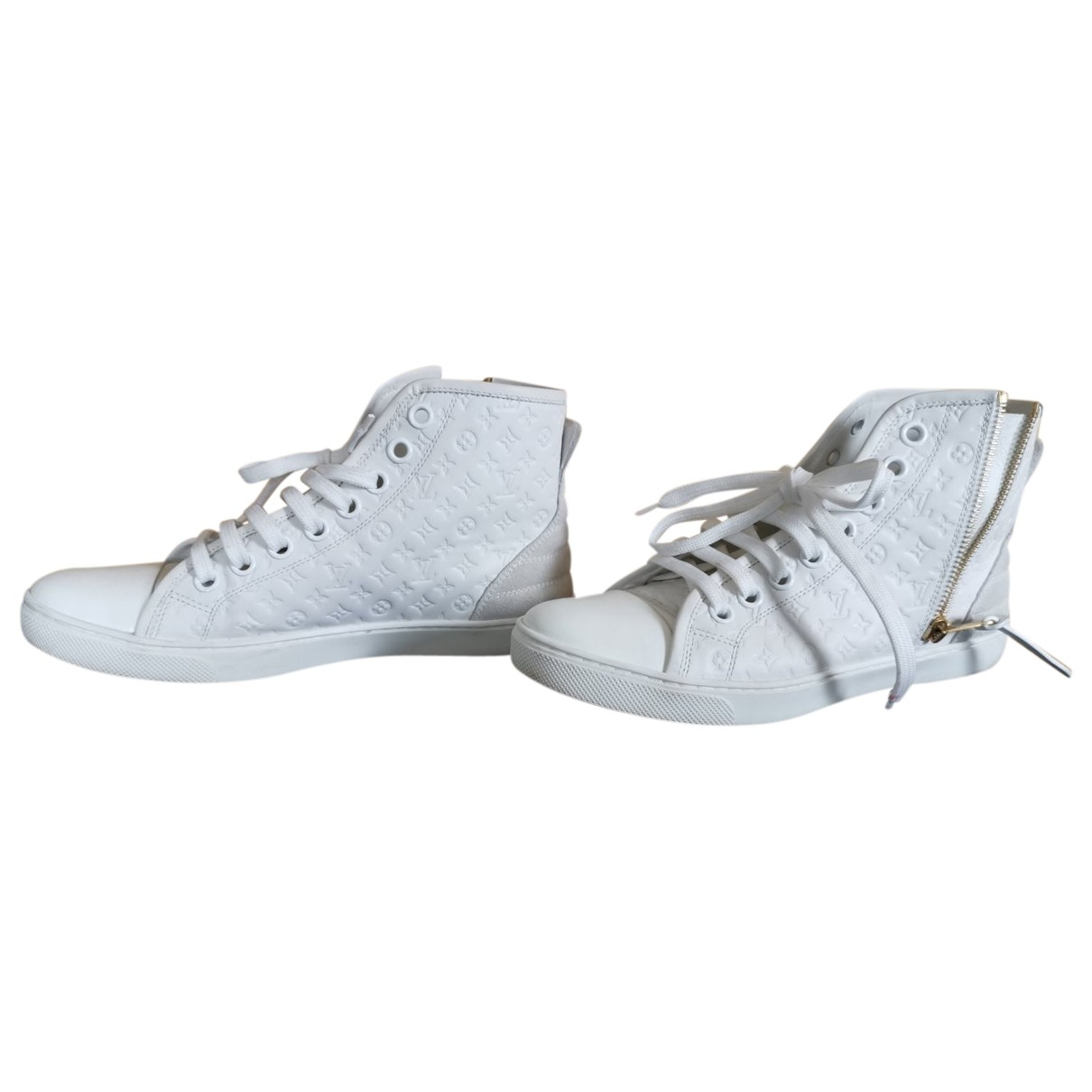 Louis Vuitton Stellar White Leather Trainers for Women 37.5 EU