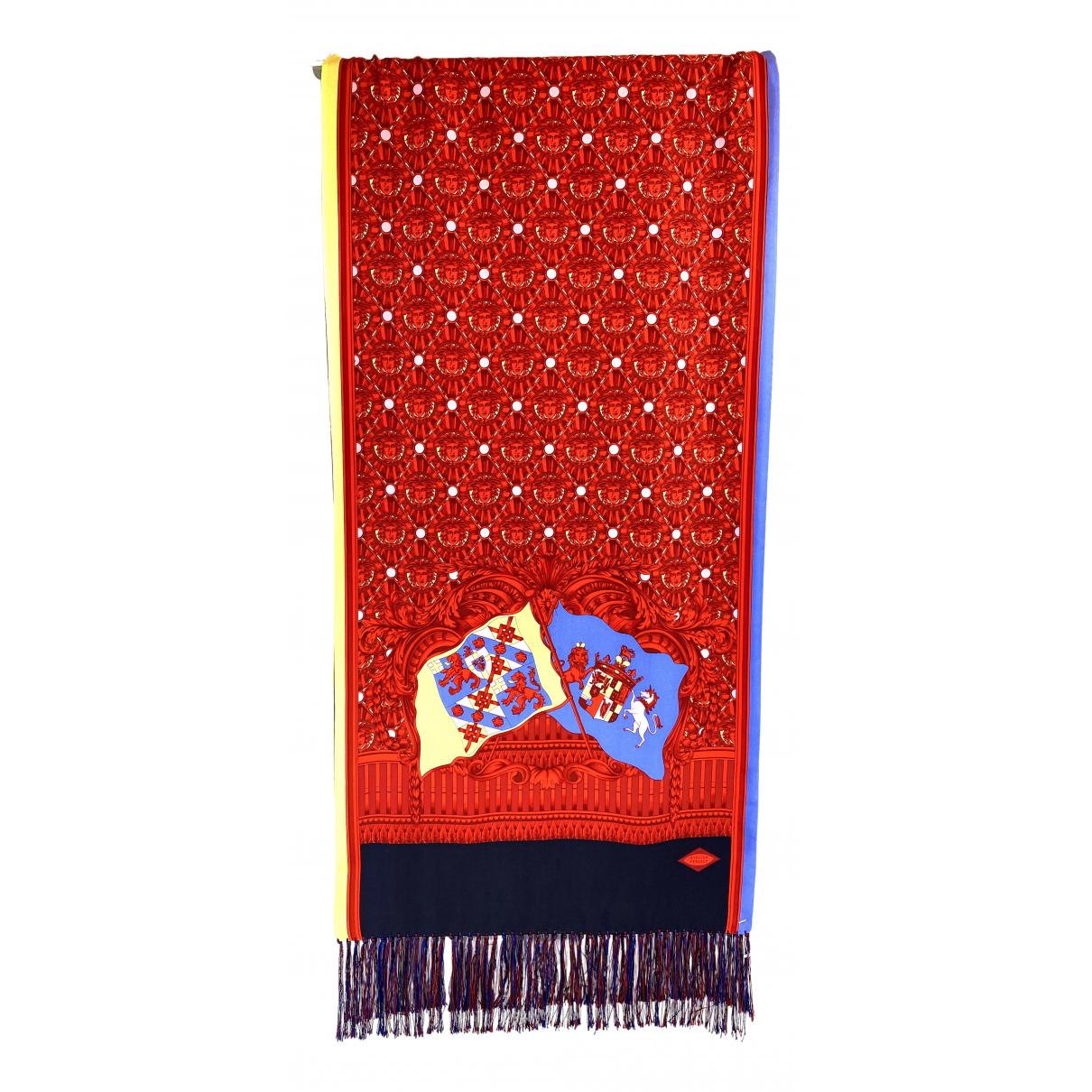 Versace - Foulard   pour femme en laine - rouge
