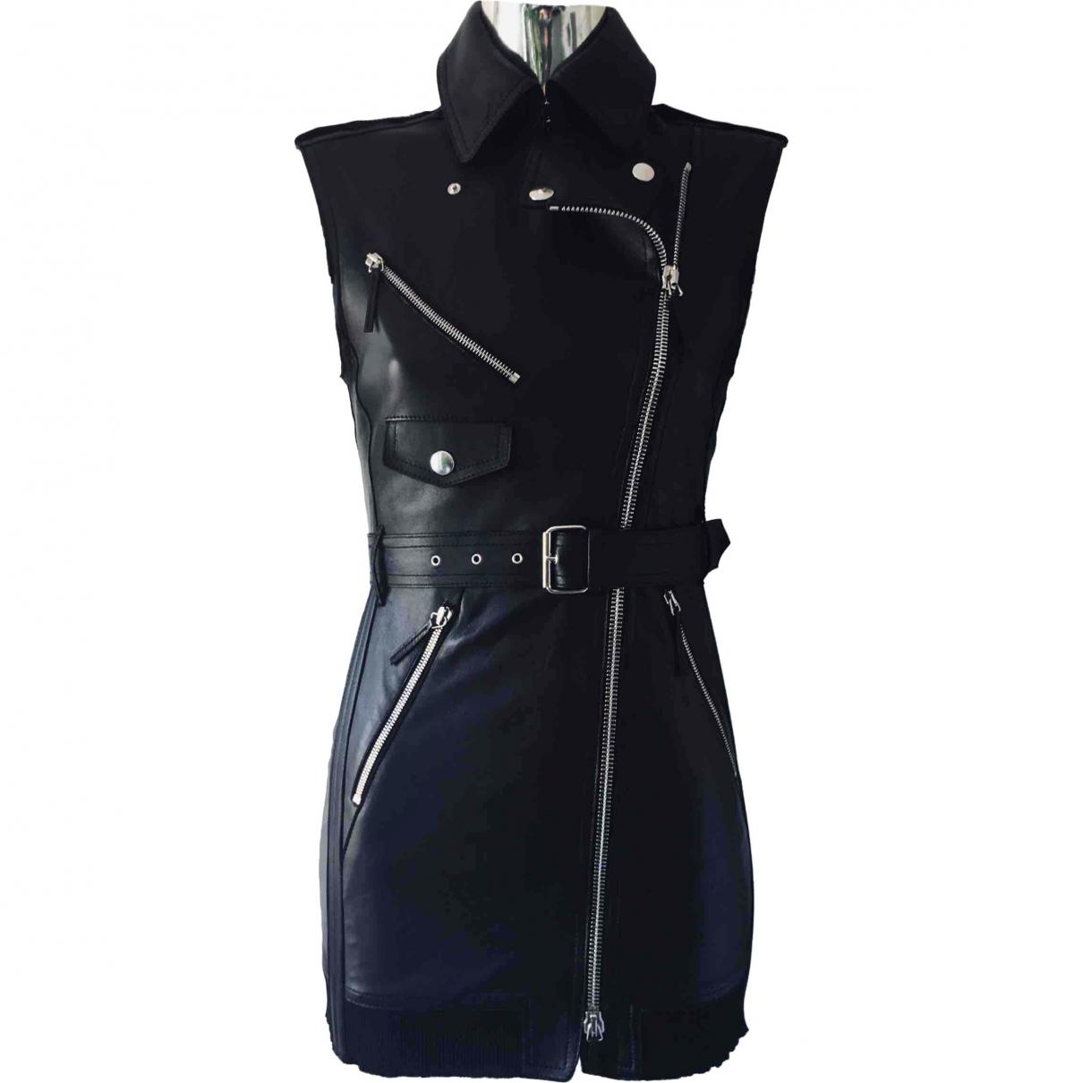 Jean Paul Gaultier \N Black Leather dress for Women 36 FR