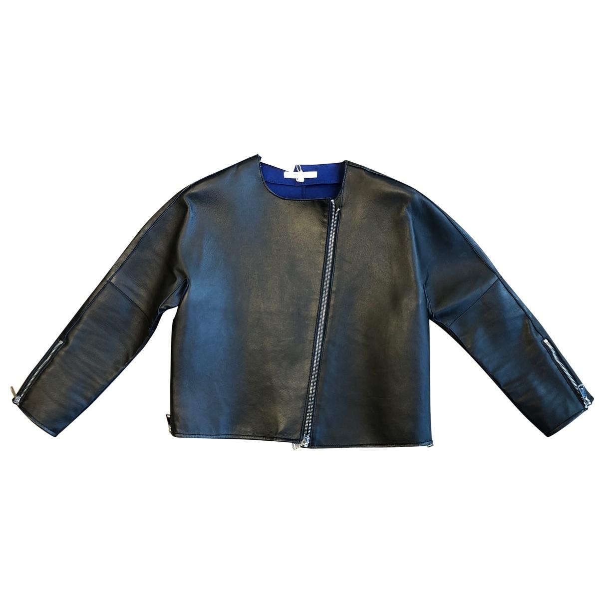 Maje \N Black Leather jacket for Women 36 FR