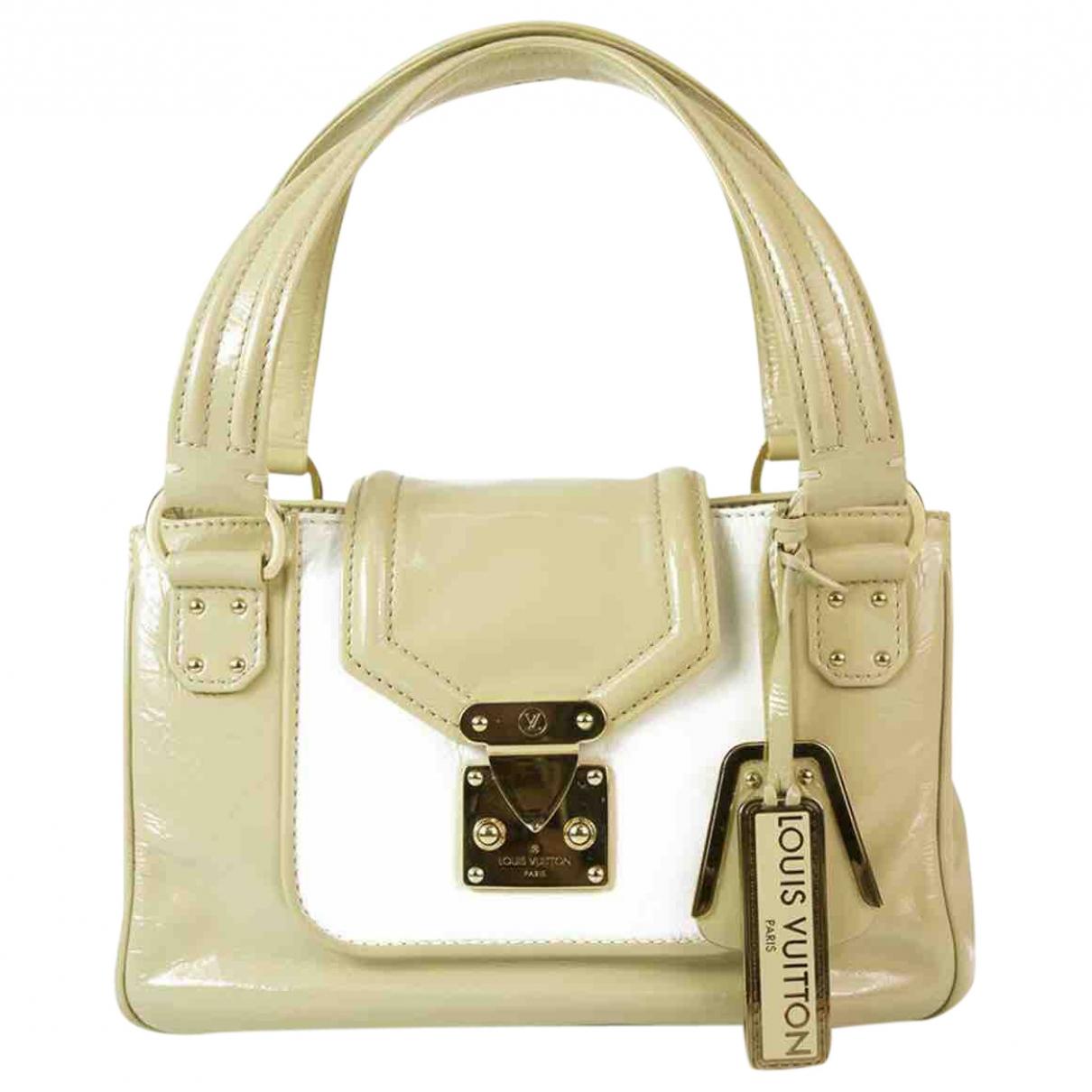 Louis Vuitton \N Handtasche in  Beige Lackleder