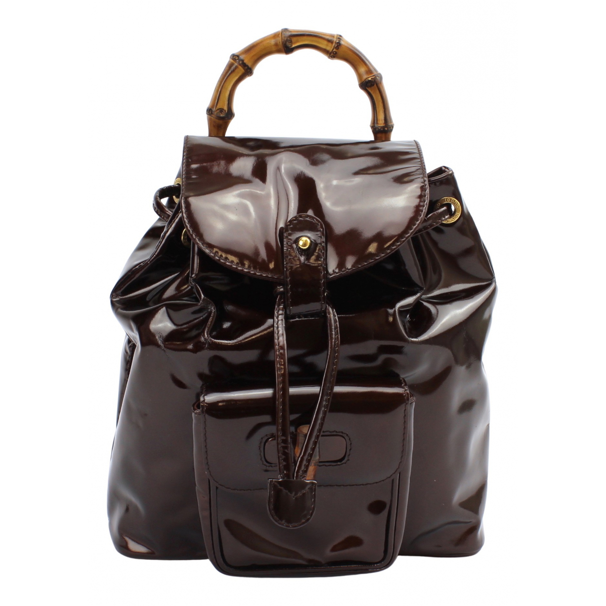 Gucci Bamboo Purple Patent leather backpack for Women N