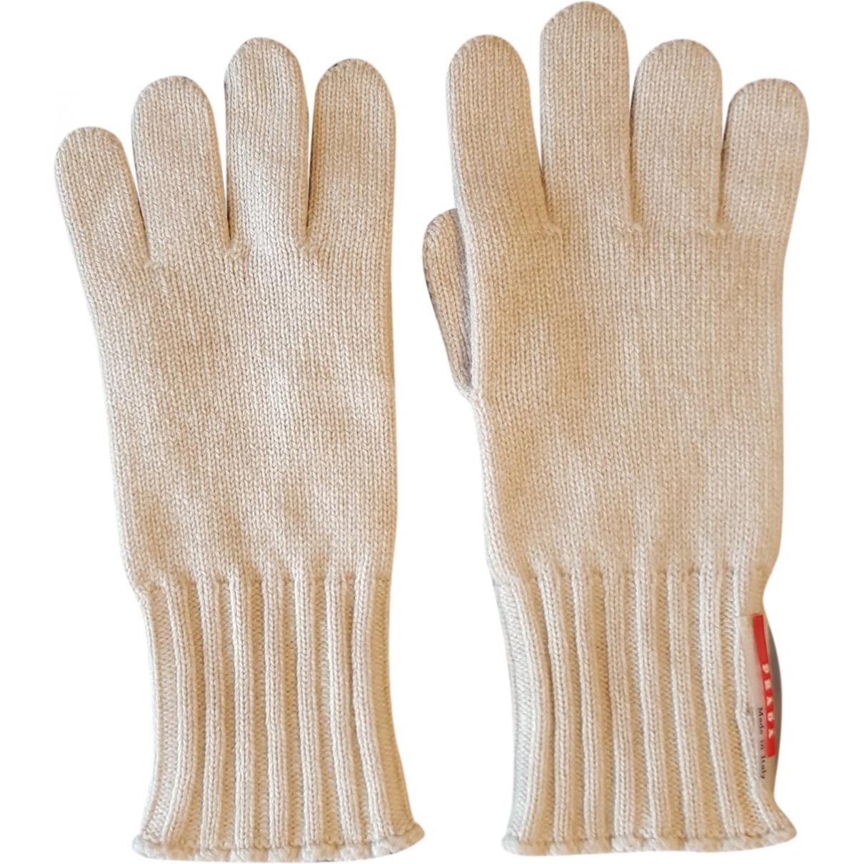 Prada \N Beige Cashmere Gloves for Women M International
