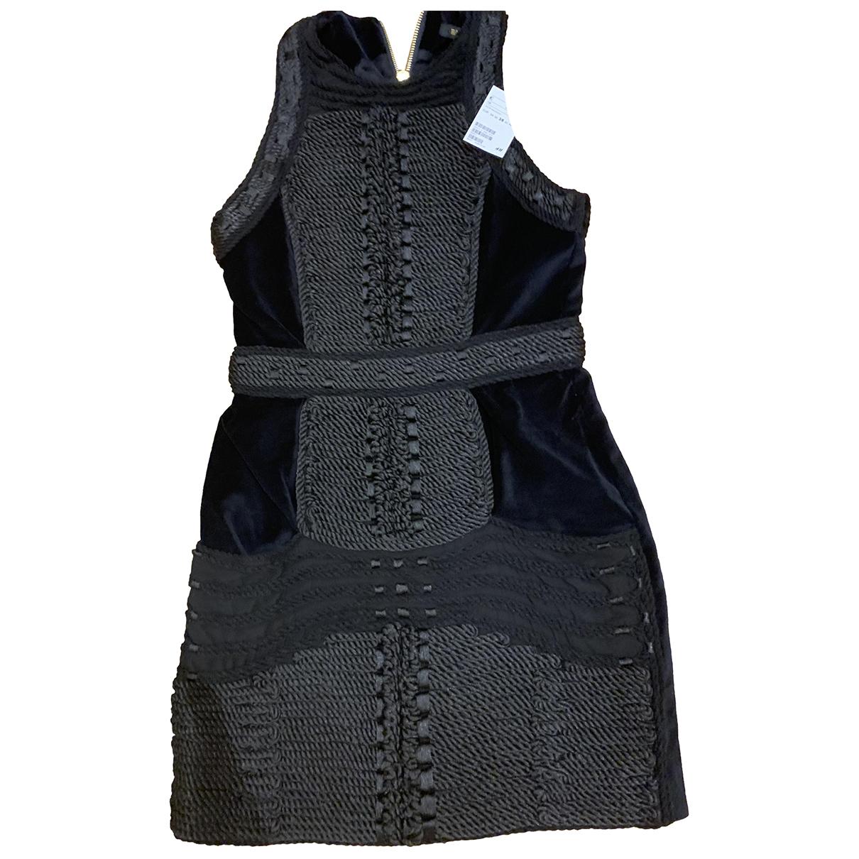 Balmain For H&m \N Kleid in  Schwarz Samt