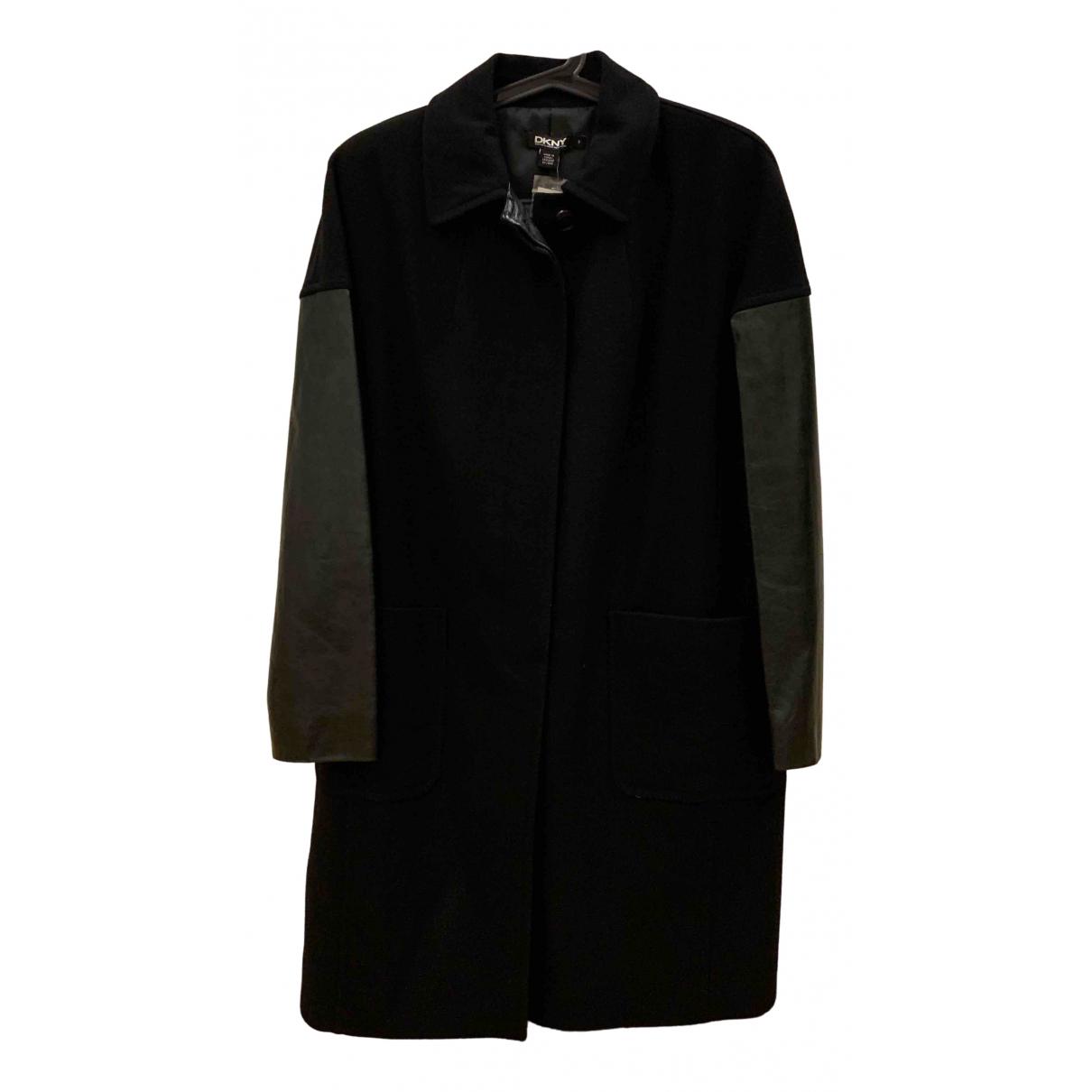 Donna Karan - Manteau   pour femme en laine - noir