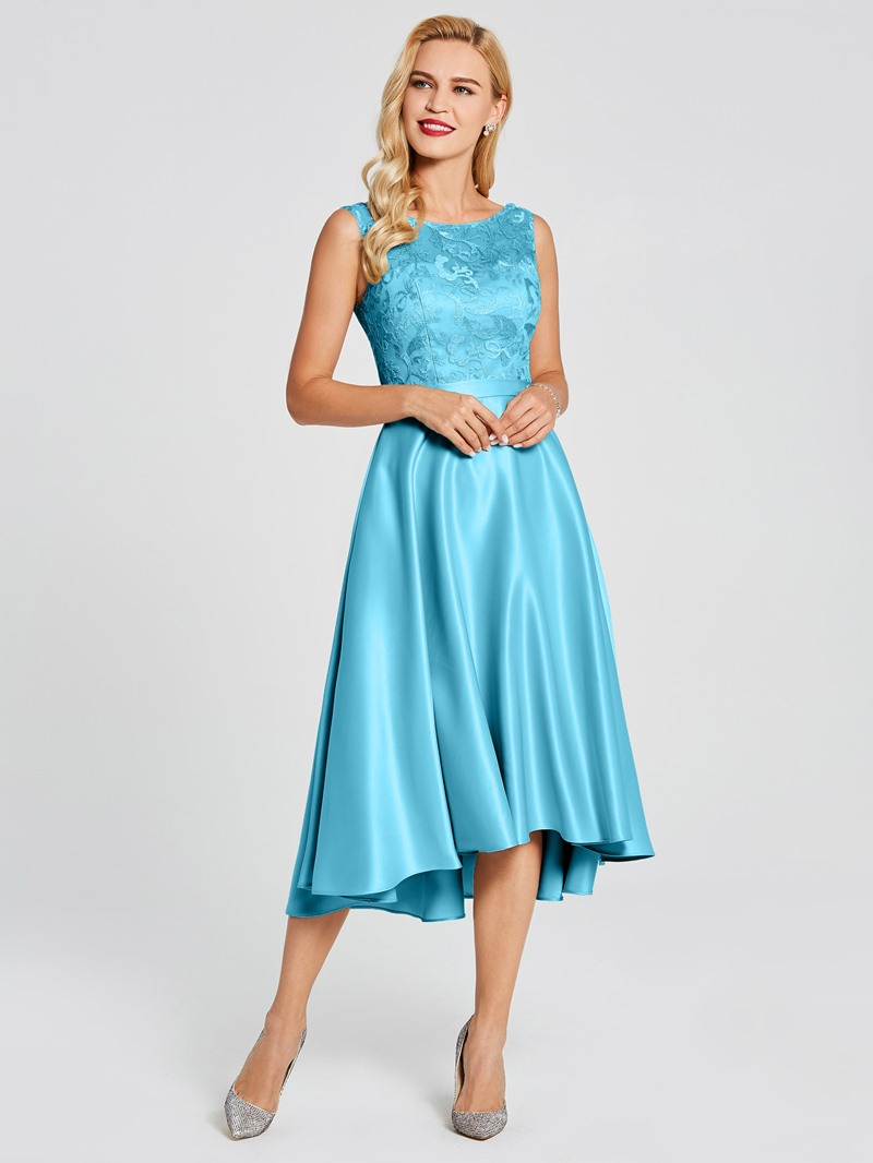 Ericdress High Low A Line Lace Bridesmaid Dress