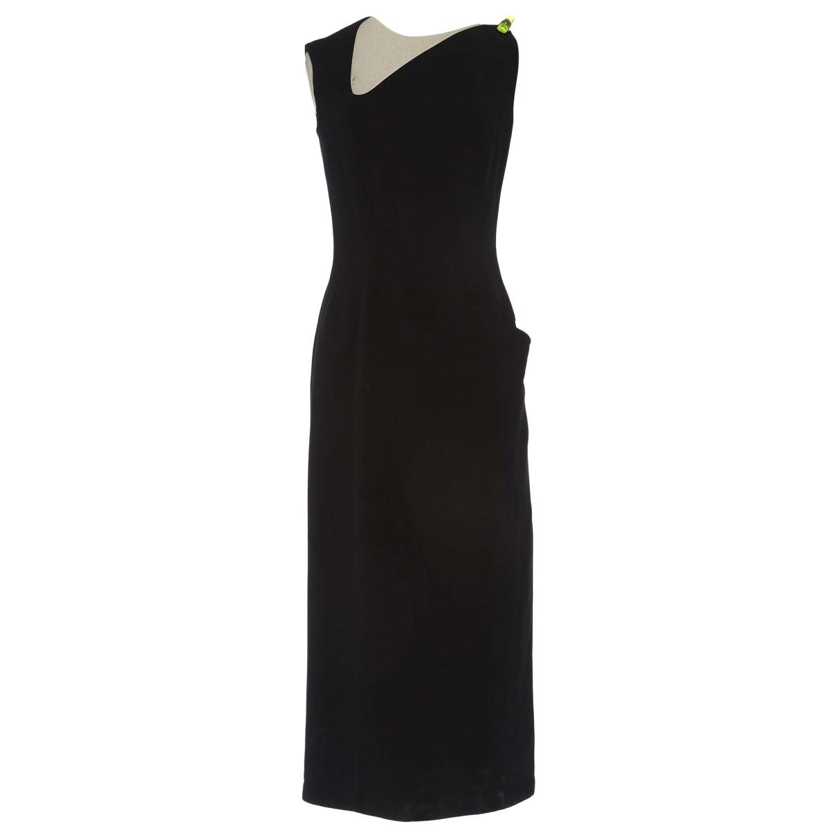 Thierry Mugler \N Kleid in  Schwarz Baumwolle