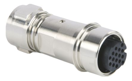 Bulgin Connector, 16 contacts Cable Mount Socket, Crimp, Solder IP66, IP68, IP69K