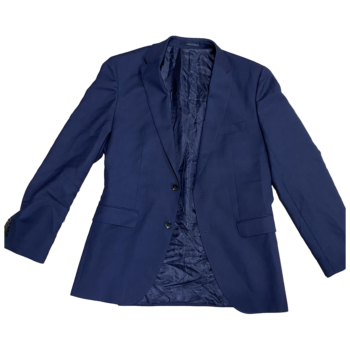 Boss - Costumes   pour homme en laine - bleu
