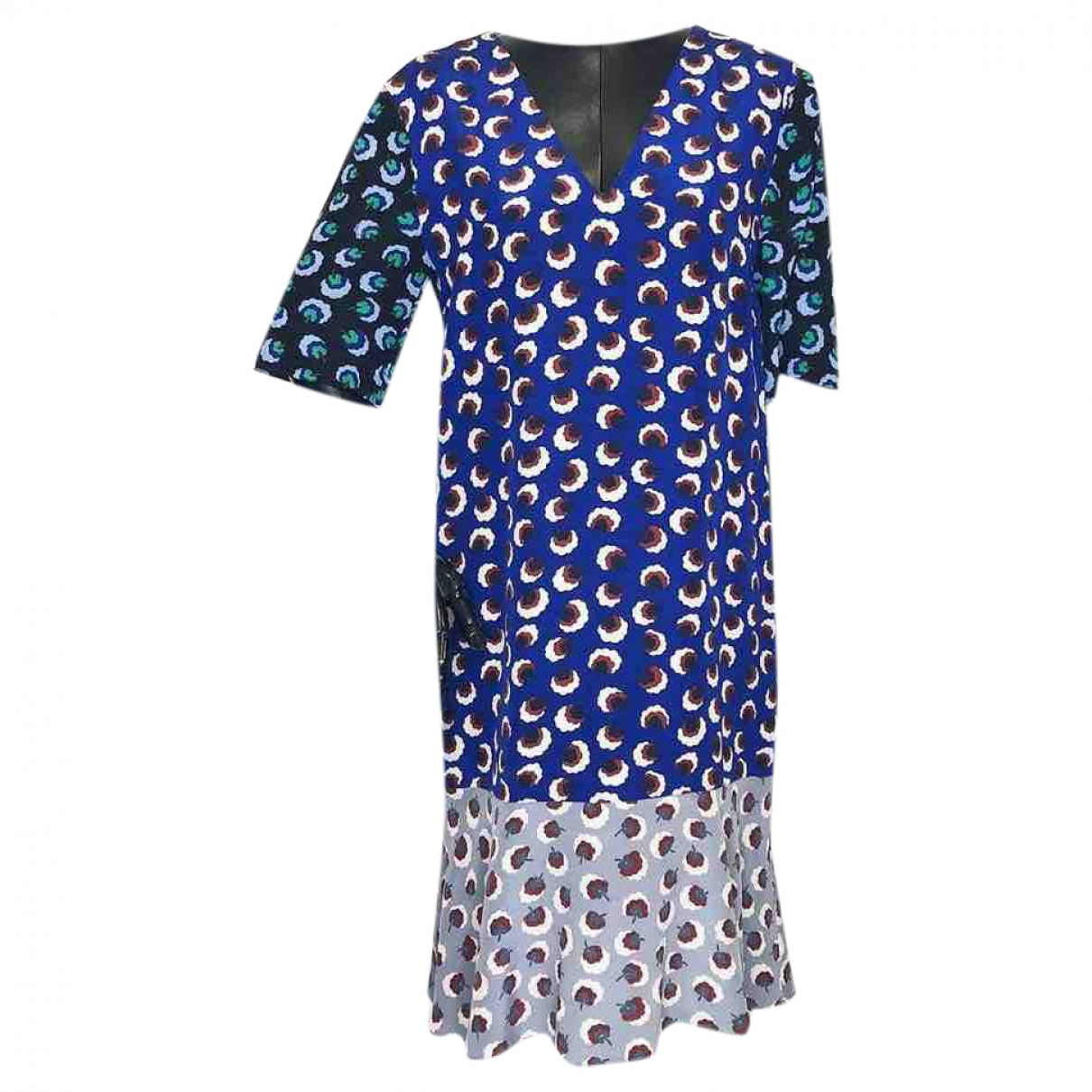 Stella Mccartney - Robe   pour femme en soie - marine