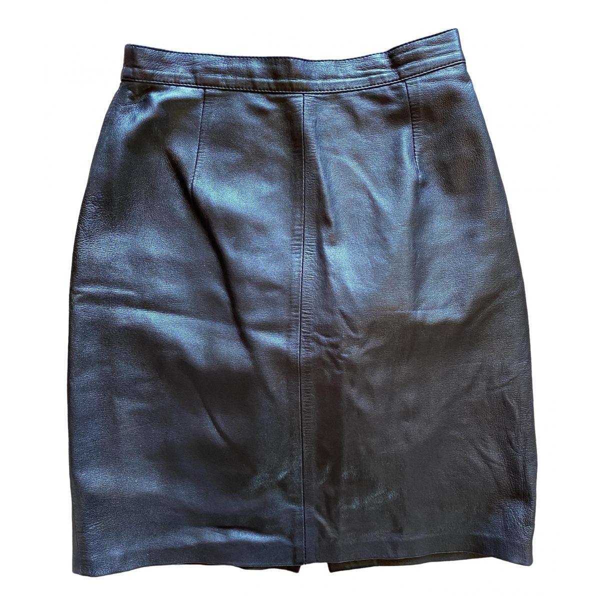 Mini falda de Cuero Non Signe / Unsigned