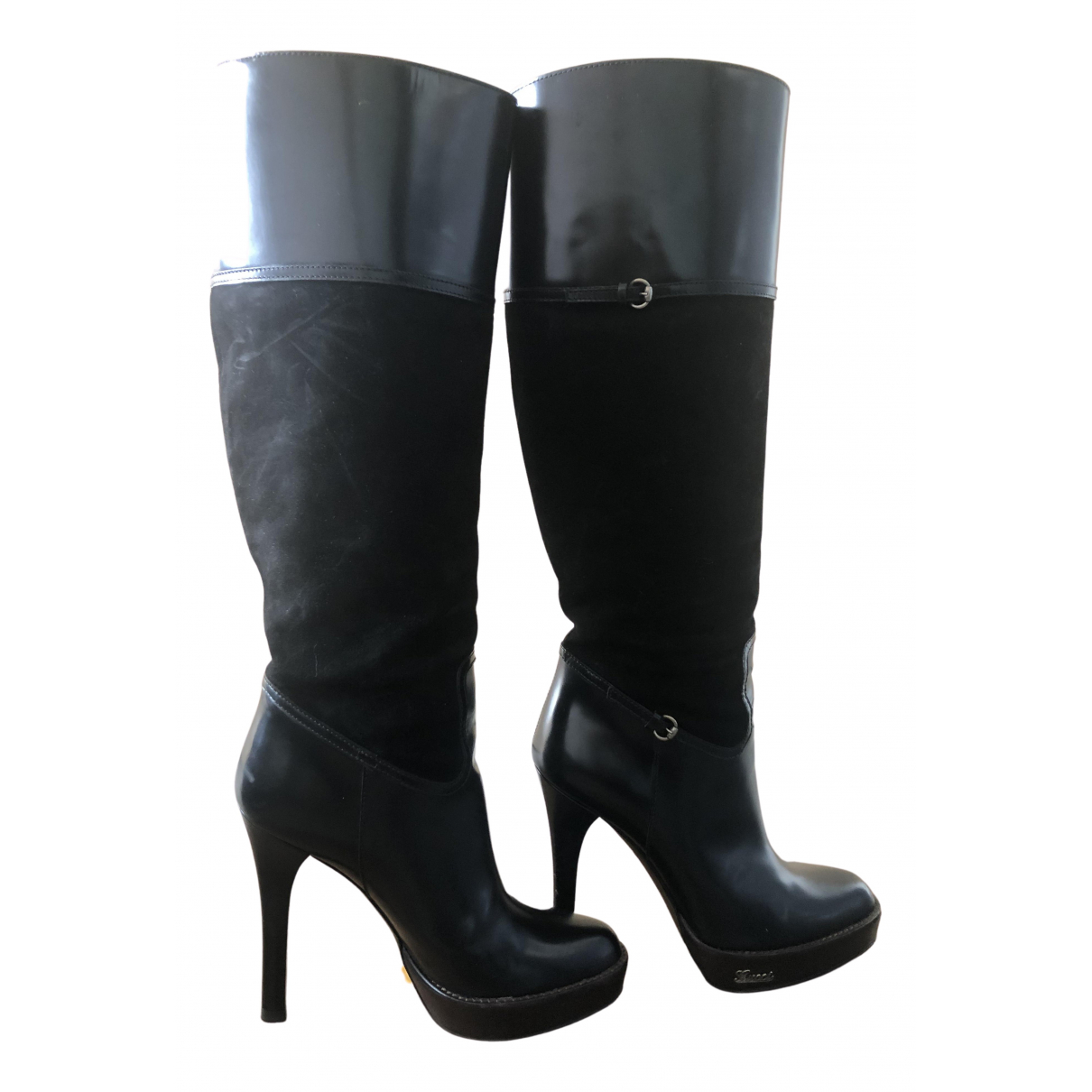 Gucci N Black Suede Boots for Women 36 IT