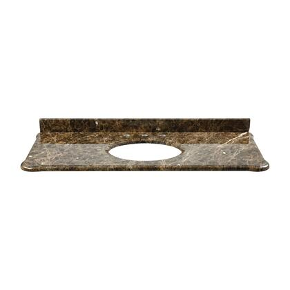 S-MALAGO-48DE Custom-cut Malago undermount Vanity top in Dark Emperador Marble. Includes