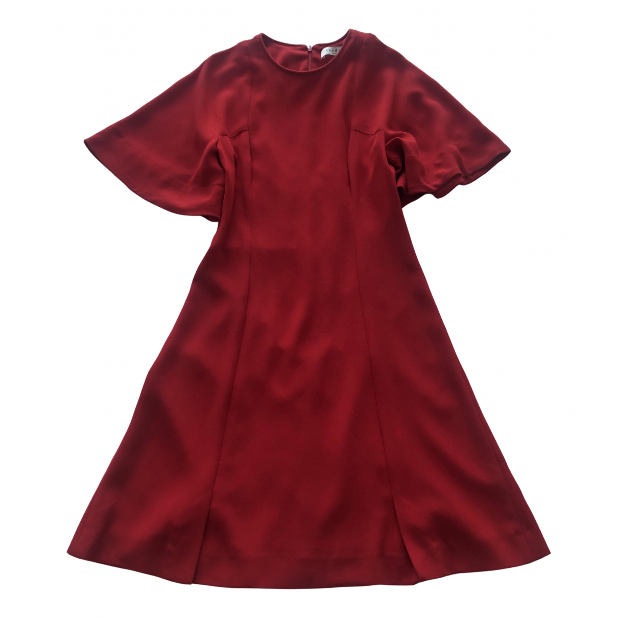 Sandro - Robe   pour femme - rouge
