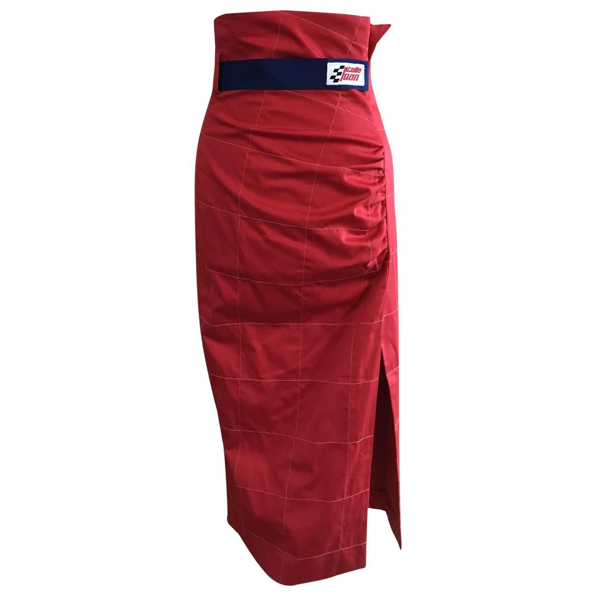 Stella Jean - Jupe   pour femme en coton - rouge
