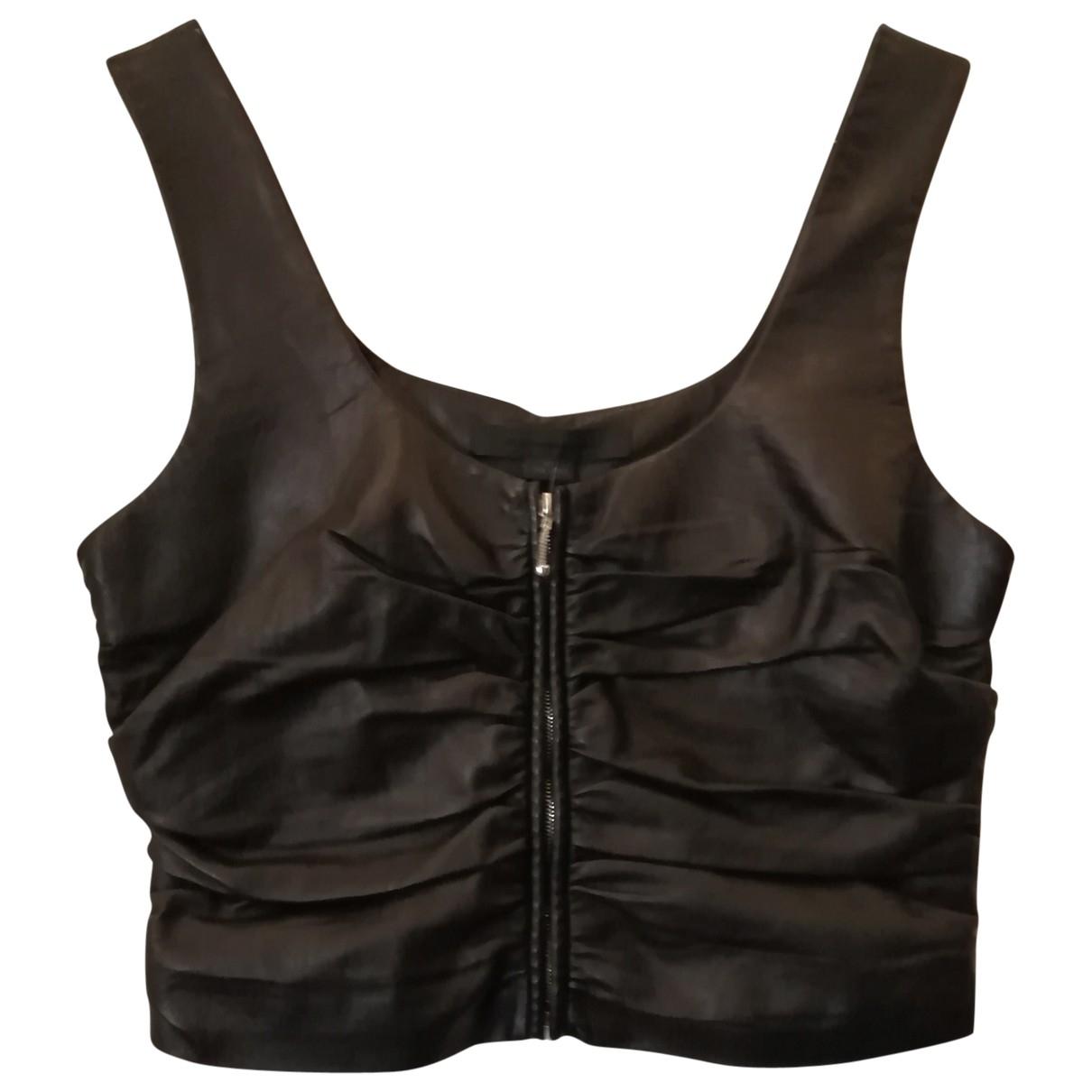 Alexander Wang \N Black Leather  top for Women 2 US